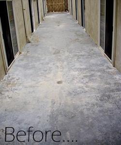 resurfacing concrete before