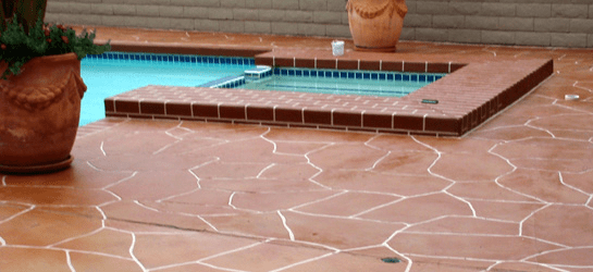 cool pool deck after