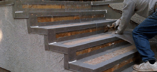 Resurfacing stairways San Clemente Ca_stairs flashing