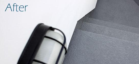 Deck Waterproofing three piece suit_stairs and landing