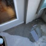 Anaheim deck flashing_ponding near door