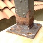 corona del mar roof decks_rusted post