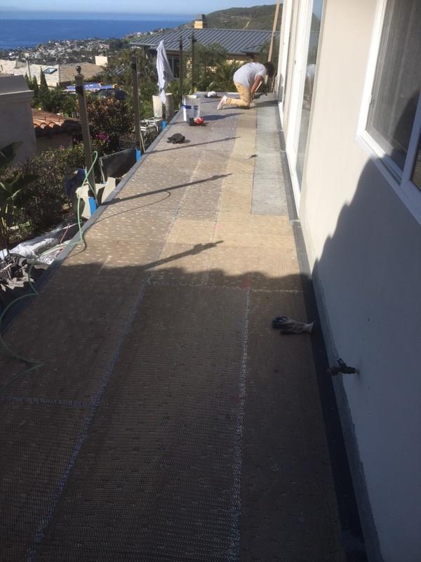 Waterproof Tile Underlay _ lathe layer